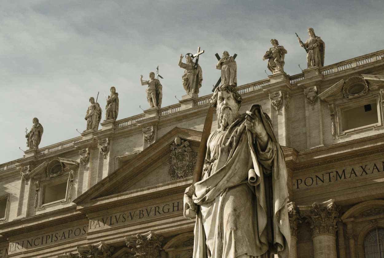 St. Peter at the entrance of the Vatican
