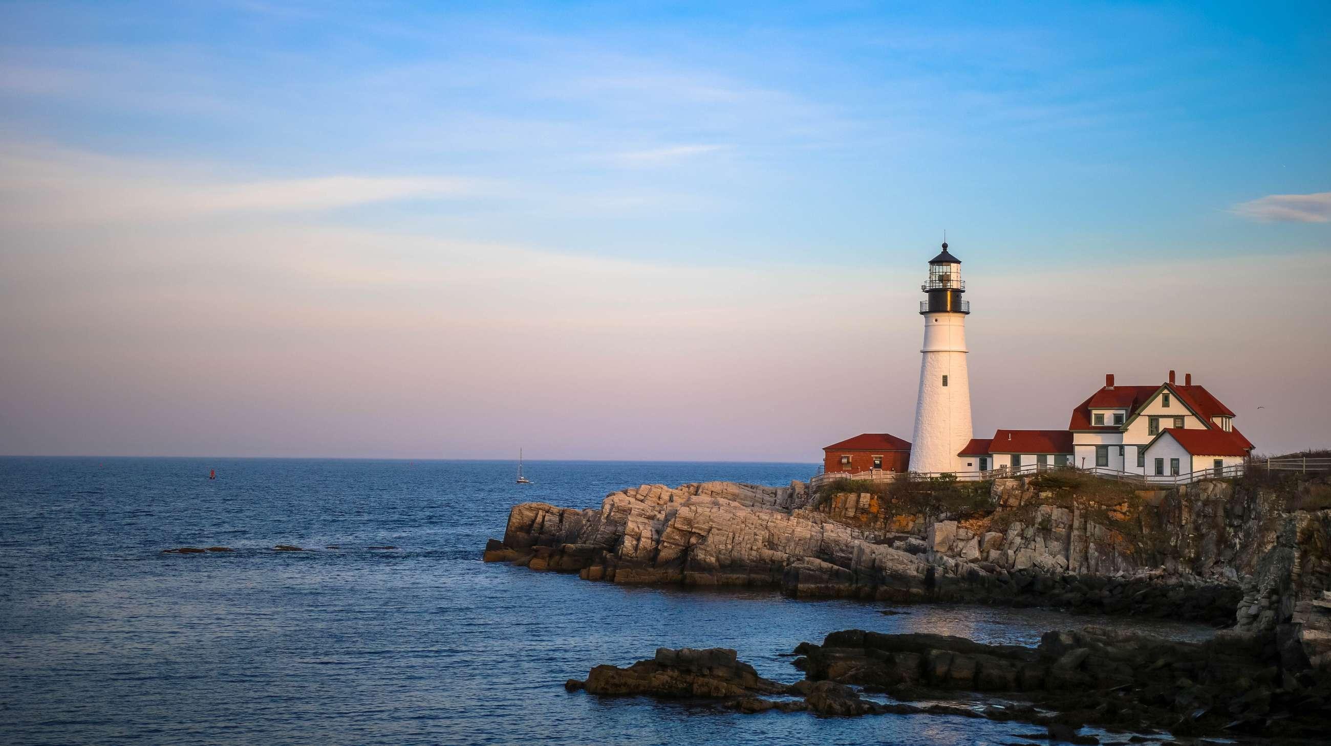 Lighthouse off the East Coast
