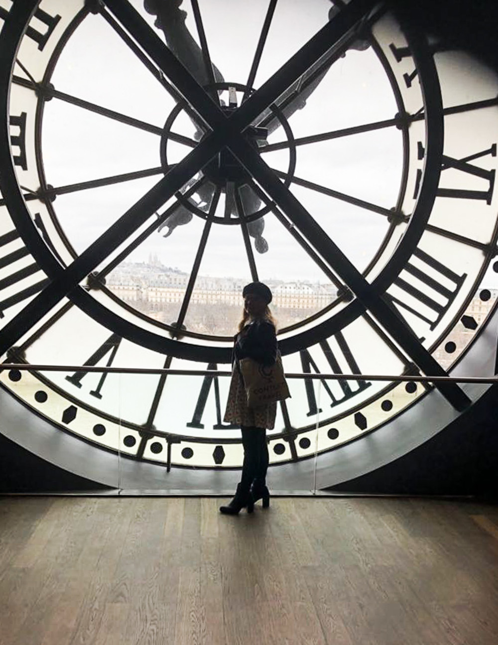 A Context employee enjoys a quiet day at the d'Orsay Museum in Paris