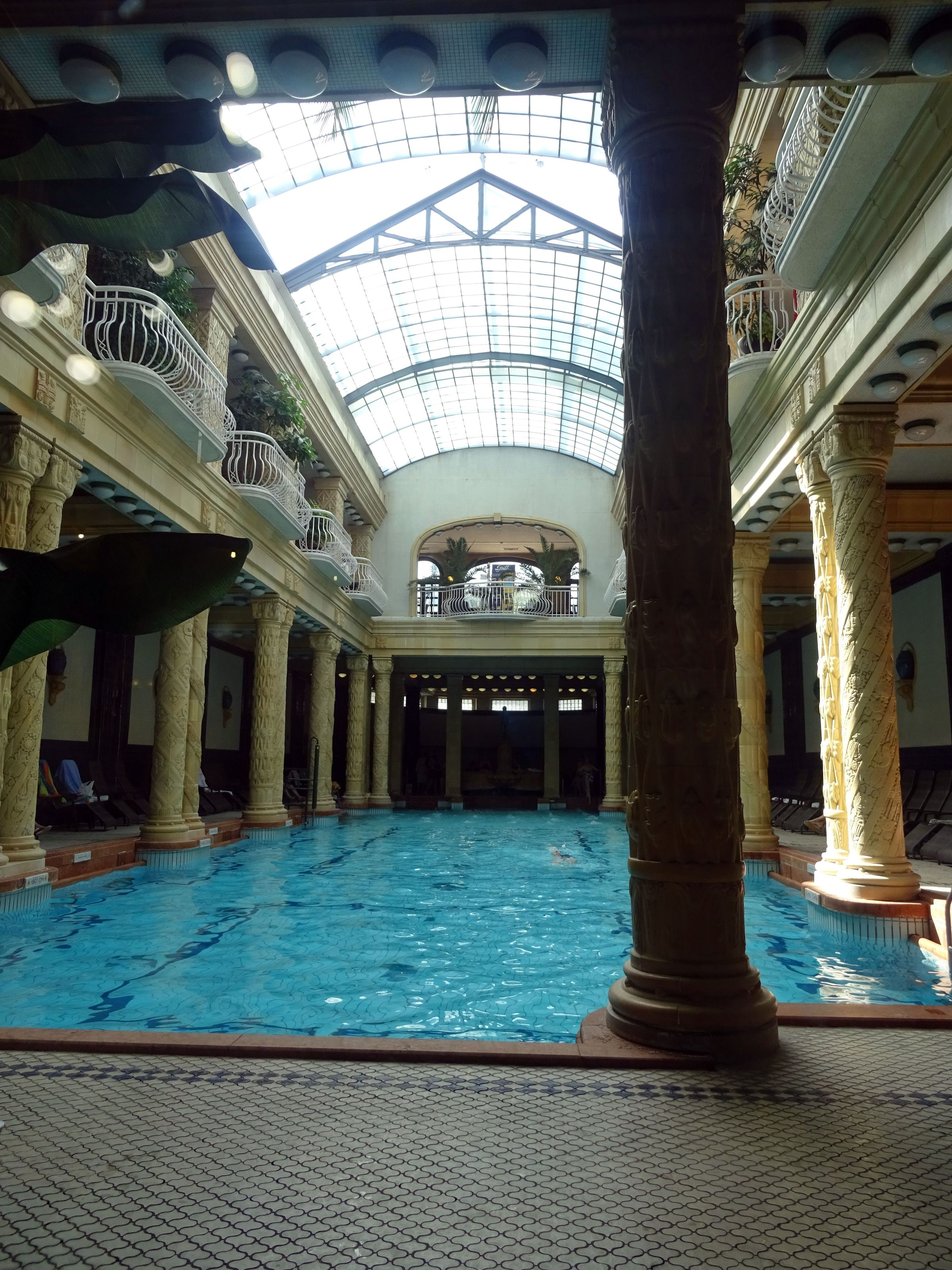Inside Gellert thermal baths