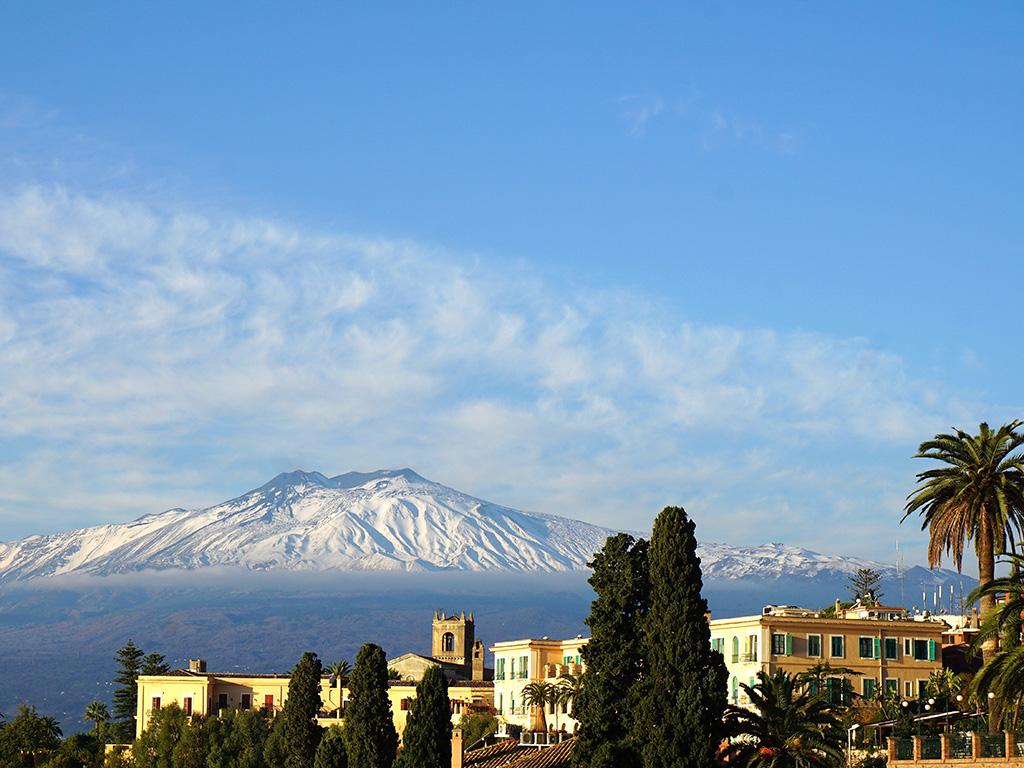 Mount Etna over Sicily