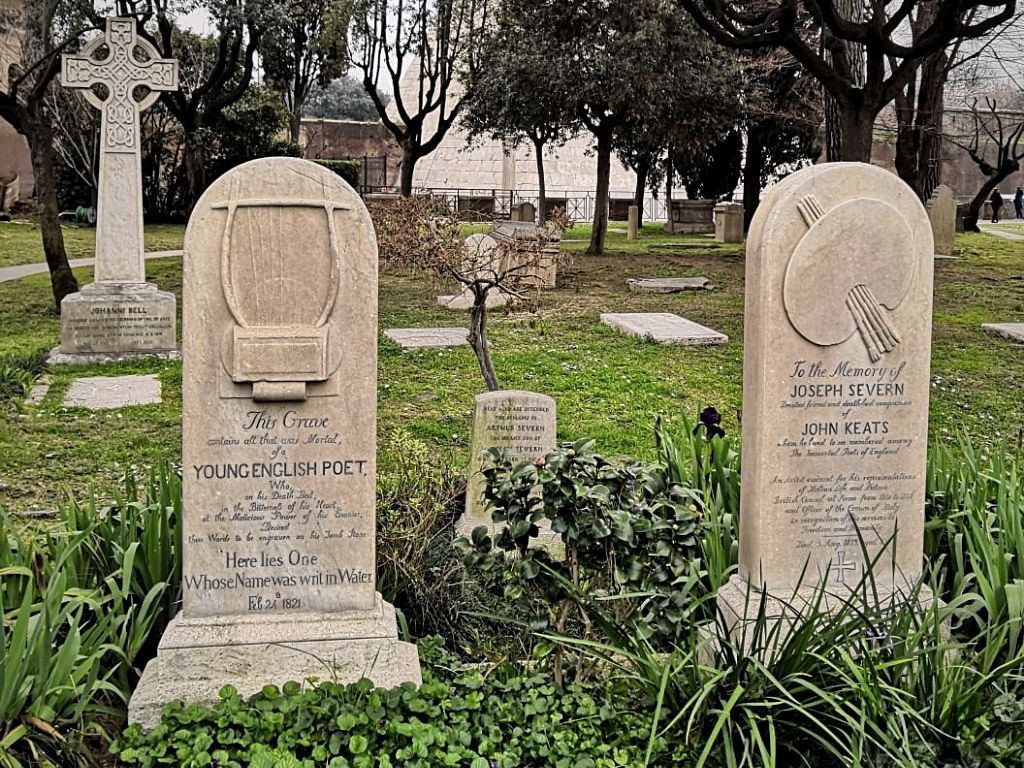 Rome's Non-Catholic Cemetery where Percy Shelly and John Keats are buried