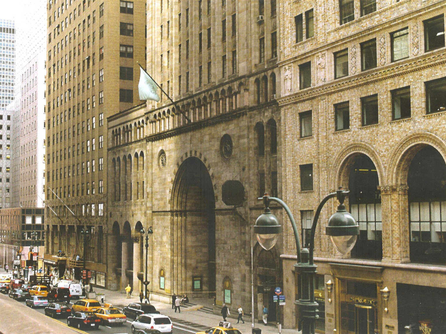 View of the Bowery Savings Bank from across the street