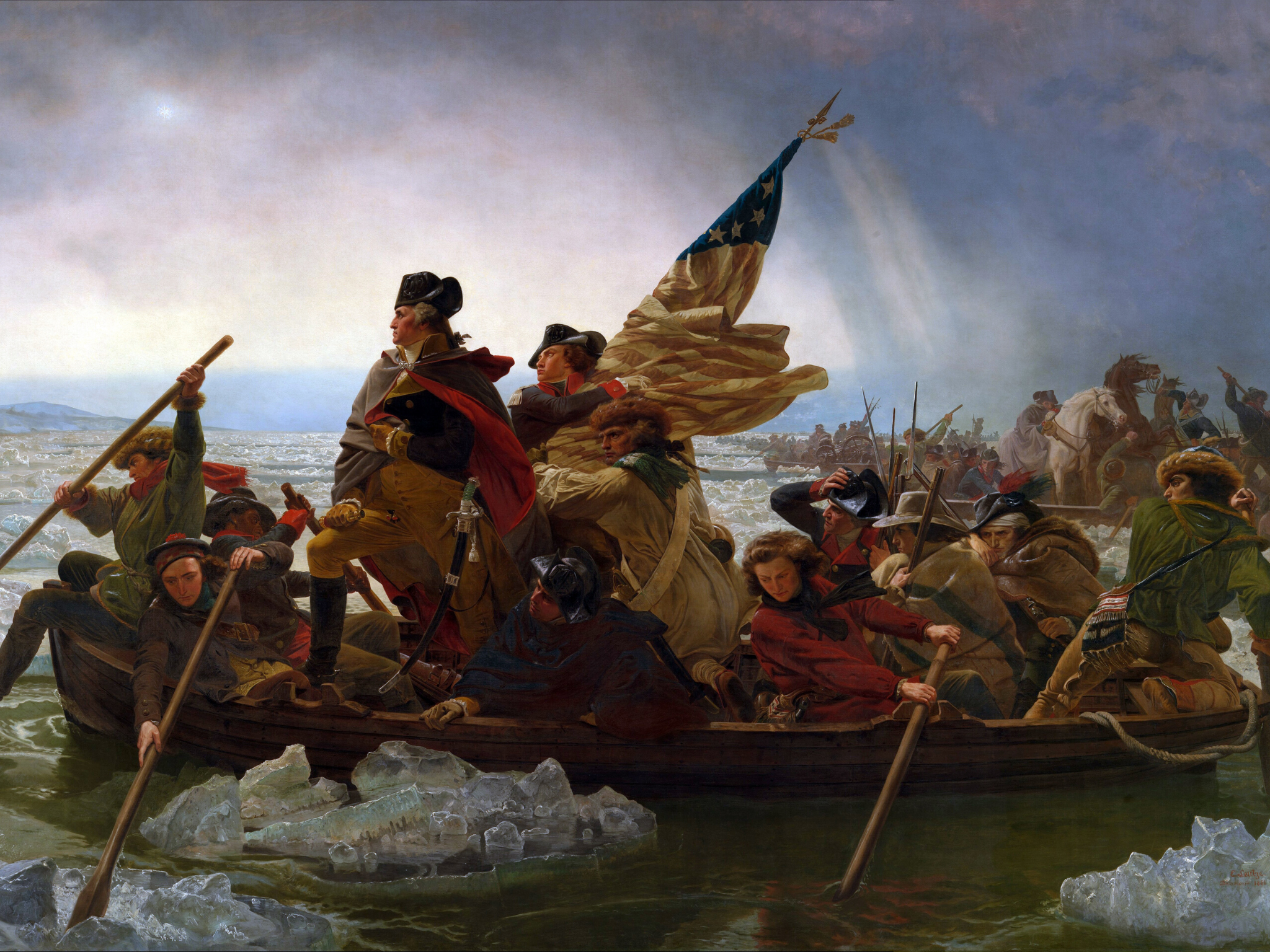 George Washington Crossing the Delaware by Emanuel Leutz, 1851
